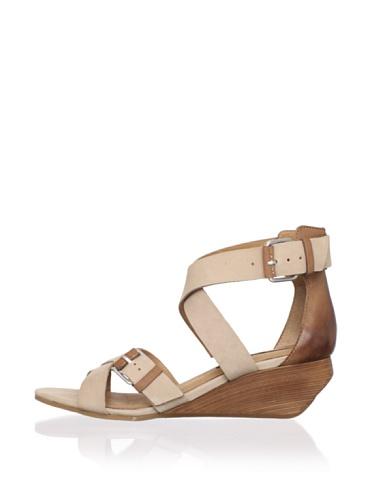 Modern Vintage Women's Lorisa Ankle-Strap Sandal (Sand/Whiskey)