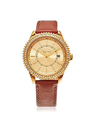 SO&CO Women's 5246.1 Uptown Tan/Gold-Tone Leather Watch