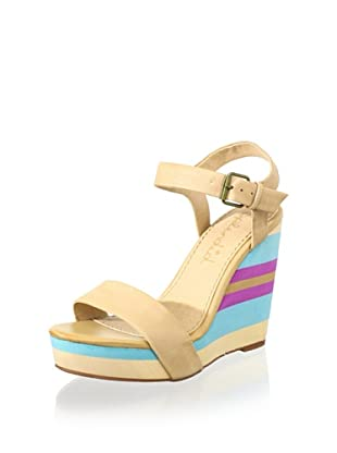 Splendid Women's Kikka Wedge Sandal (Caramel)