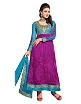 atisundar Alluring Blue And Purple embroidered Party Wear Anarkali- 6691_40_709