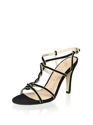 Lola Cruz Women's High Heel Sandal (Negro/Oro)