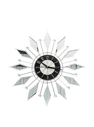 World Friendly World Diamond Reflection Wall Clock