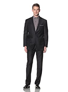 Yves Saint Laurent Men's Tonal Stripe Suit (Navy)