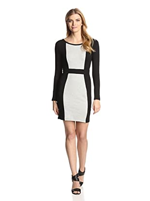 Tart Women's Emmy French Terry Long Sleeve Dress (Black/Grey)