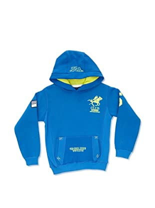 Geographical Norway Sudadera Fluo (Azul Royal / Amarillo)