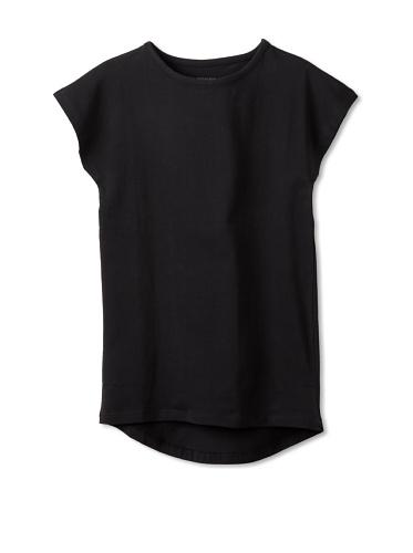 New Generals Girl's Pure Black Dress (Black)