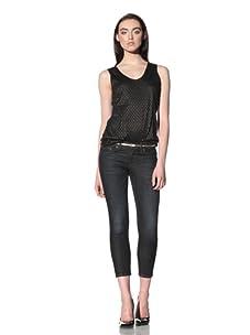 David Kahn Women's Lana Skinny Cropped Jean (Corfu)
