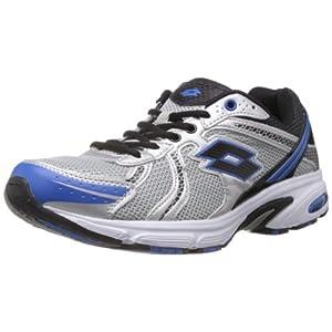 Lotto Mens Atlanta Grey and Blue Mesh Running Shoes.