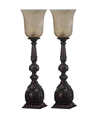 Safavieh Set of 2 Dion Arifact Table Lamps, Oil-Rubbed Bronze