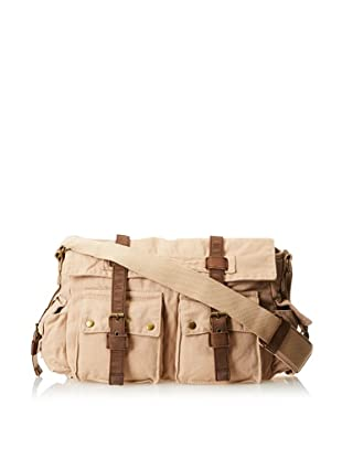 J.Campbell Los Angeles Men's Culver City Washed Canvas Messenger (Khaki)