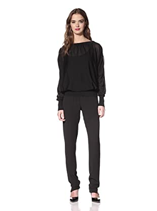 NINA RICCI Women's Silk Open Back Sweater (Black)