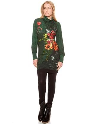 SideCar Kleid Design Rollkragen (Grün)