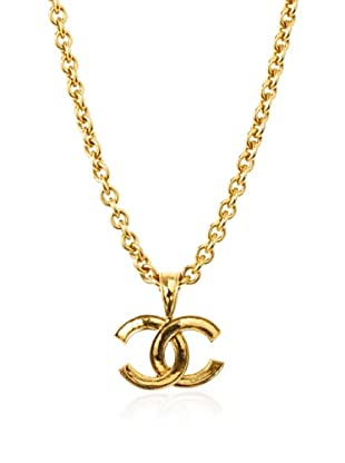 CHANEL Medium Logo Dangle Necklace