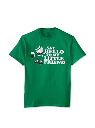 Chill Men's Say Hello To My Little Friend Crew Neck Tee (Kelly Green)