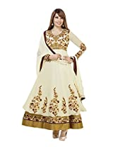 Adah Georgette Dress Material (White) - 569-4004