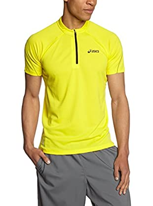 Asics Camiseta Manga Corta Mile Ss 1/2 Zip Top