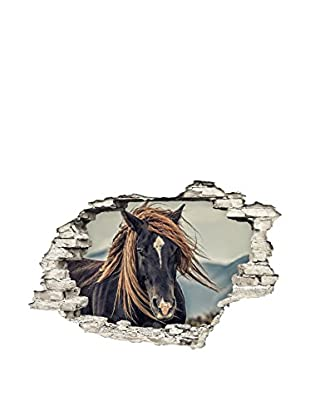 Ambiance Sticker Wandtattoo Giant Hors With Hair In The Wind Hole