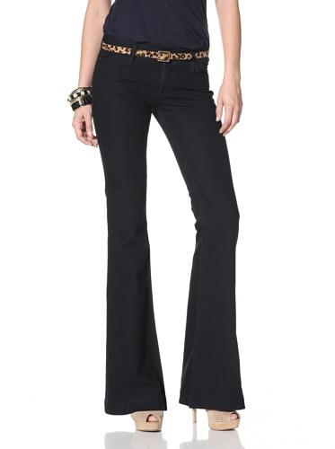 DL 1961 Premium Denim Women's Roxy Kick Flare Jeans (black diamond)