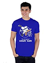 Enquotism Royal Blue Combed Cotton Fabric Round Neck Men Tshirt-L The Orignal Angry Bird Royal Blue -L