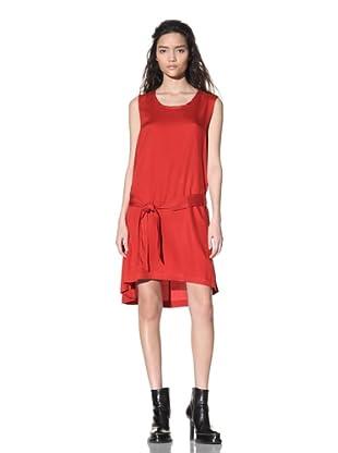 Ann Demeulemeester Women's Sleeveless Belted Dress (Fire)