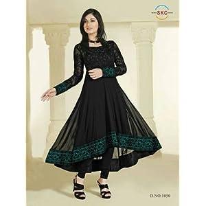 Newest Designer Pankhuri Black Anarkali Suit