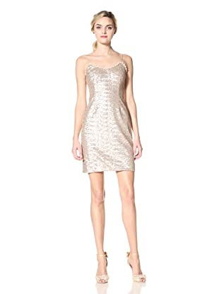 Mikael Aghal Women's Sequin Cocktail Dress (Blush)