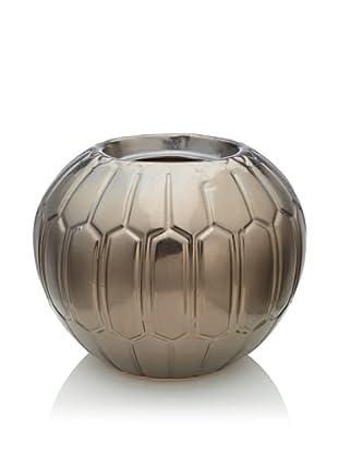 Pacific Décor Geo Flamepot/ Candleholder, Metallic Black