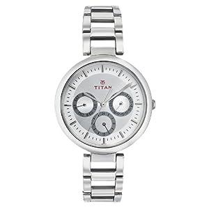 Titan Youth Analog Silver Dial Women's Watch - NE2480SM03