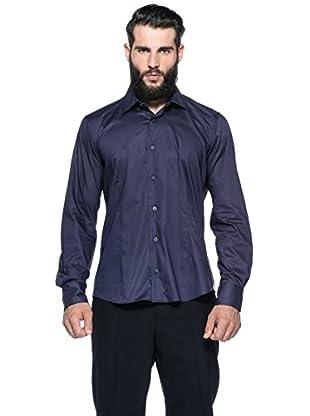 Romeo Gigli Milano Camisa (Azul Marino)