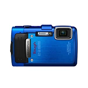 Olympus Stylus TG-830 iHS Digital Camera with 5x Optical Zoom and 3-Inch LCD (Blue) (Old Model)