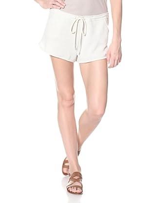 skin Women's Lurex Shorty (Silver)