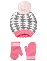 Carters Baby-Girls Geometric Intarsia Hat Mitten Set