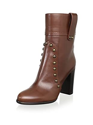 Sergio Rossi Women's Mid-Shaft Pull-On Boot (Chocolate)