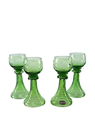 Set of 4 Reijmyre Roemer Style Goblets, Green