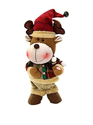 Decoracion Navideña Figura Navidad Reno Sonido Y Movimiento