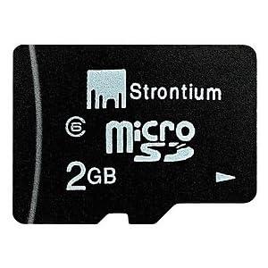 Strontium 2GB MicroSD Memory Card - Class 6 + Adaptor
