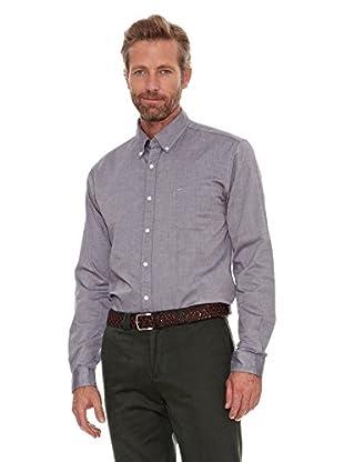 Cortefiel Camisa Oxford (Gris Oscuro)