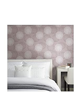 Brewster Cayman Contemporary Raffia Strippable Wallpaper, Lavender