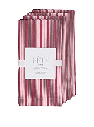 KAF Home Set of 4 Fête Striped Napkins