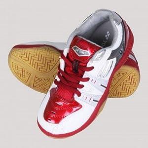 Yonex World Champ 101 LTD Jr Badminton Shoes|Pearl White and Red|1