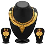 Necklace sets - Graceful Gold Plated Temple Jewellery Coin Necklace Set for Women
