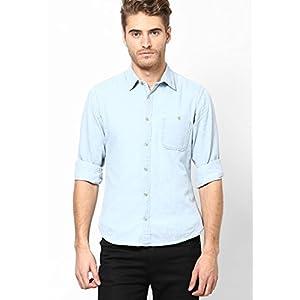 Printed Blue Full Sleeve Denim Print Shirt