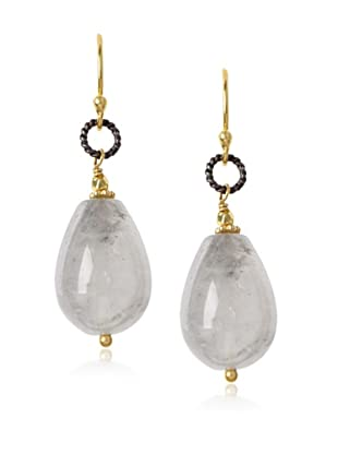 Robindira Unsworth Silver Quartz Drop Earrings