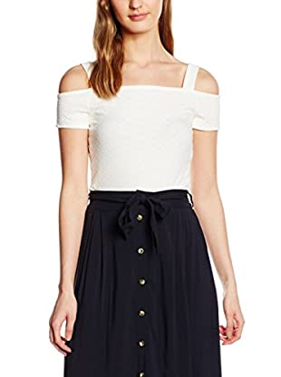 New Look Damen Top Jacquard Wide Strap Cold Shoulder