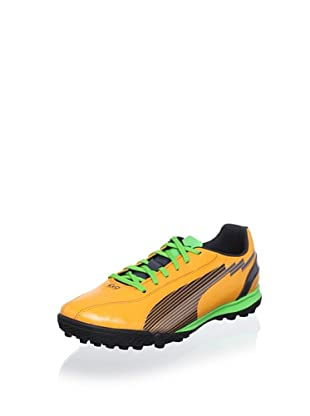 Puma Men's Evospeed 5 Tt Sneaker (Orange/Charcoal/Green)