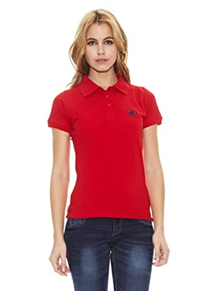 Polo Club Polo Manga Corta Custom Fit Small Horse (Rojo)