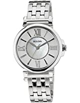 Bulova Classic Analog Mother of Pearl Dial Women's Watch - 96L156