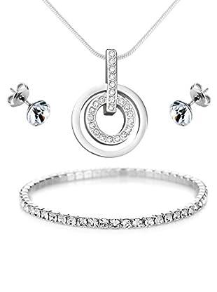 Diamond Style Schmuckset Faith Pendant, Elizabeth & Solo Ear Studs