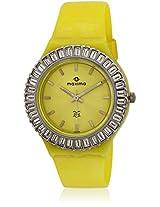 Yellow/Silver Analog Watch Maxima