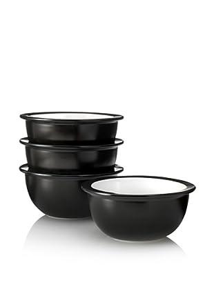 Kate Spade Saturday Set of 4 Wide-Rim Bowls, Black/White